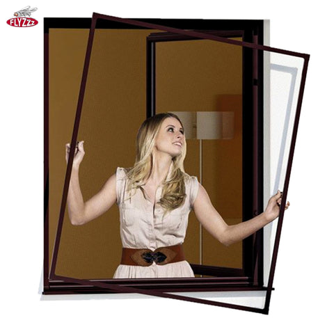 Hot selling customized colors aluminum frames fiberglass anti mosquito net window on China WDMA