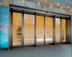 Hotel hospital bank stainless steel frame automatic sliding glass door with unit on China WDMA