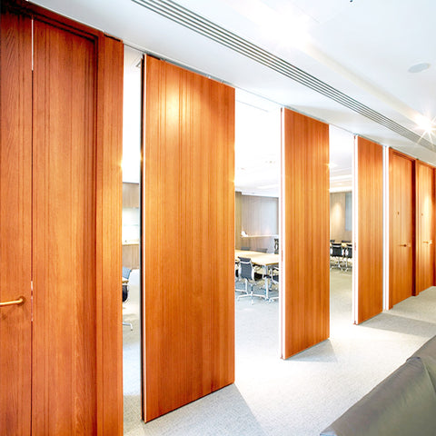 Hotel movable paritiotn conference Center operable walls Banquet hall folding sliding wooden Doors for Nigeria on China WDMA