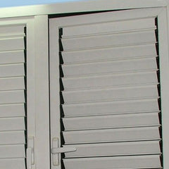 House aluminium toughened glass window frames with louver panel on China WDMA