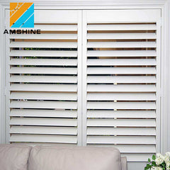 House window louvers venetian interior blinds pins plantation shutter on China WDMA