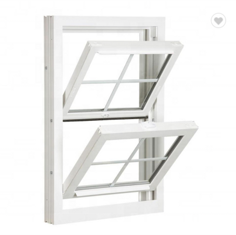 Hurricane impact High Quality Vinyl UPVC Double Hung Windows on China WDMA