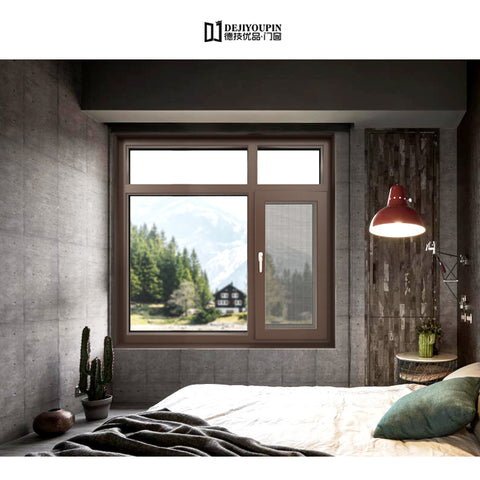 Hurricane impact W55 fixed glass single hung Double Glazed bullet proof house casement window with steel lock on China WDMA