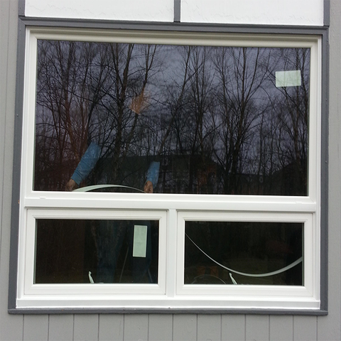 Hurricane impact laminated glass awning window aluminum frame on China WDMA