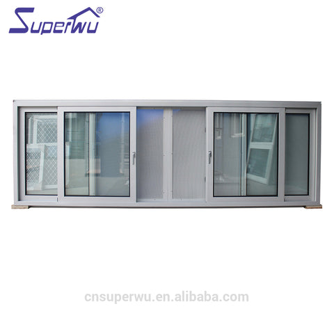 Hurricane resistant small vertical glass commercial sliding window for house on China WDMA
