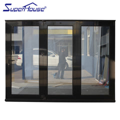 Impact resistance door aluminum folding glass doors on China WDMA