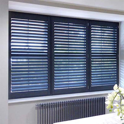 Interior Modern Home Furniture PVC/Vinyl Window Vertical Plantation Shutters on China WDMA