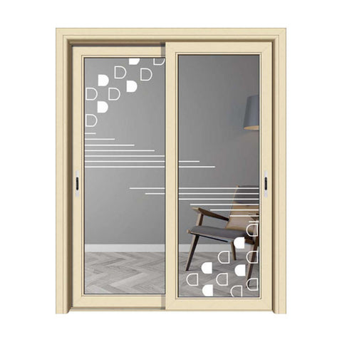 Interior aluminum casement door with double glass customized size on China WDMA