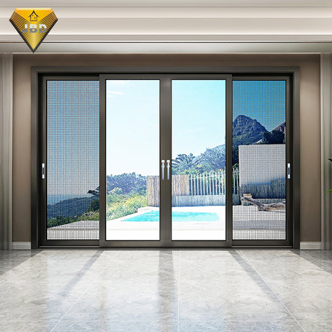 Interior french balcony sliding aluminum doors sliding doors with blinds between glass on China WDMA