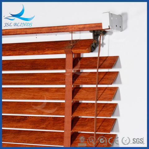 Internal 50mm Faux Wood Blinds for Sliding Glass Bathroom Doors on China WDMA