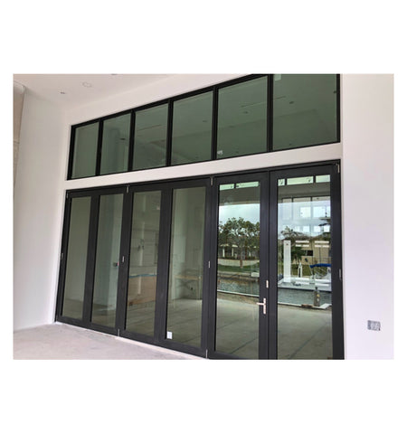 JBD double glazing bi fold door Accordion aluminum glass patio exterior bifold doors on China WDMA