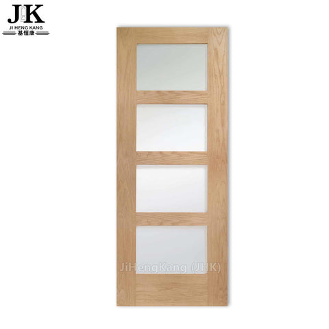 JHK-G17 French Interior Door Wood Glass Door Design on China WDMA