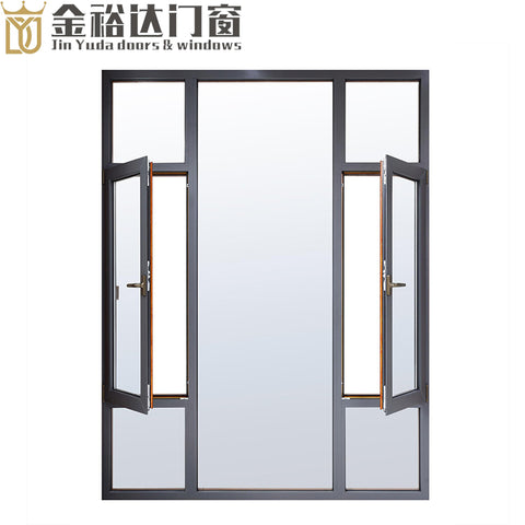JYD Energy saving double glass window aluminium casement windows and doors on China WDMA