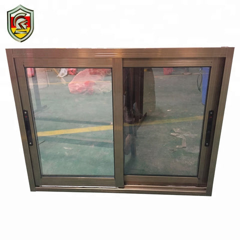 Kenya commercial building material 6mm single tempered glass aluminum sliding windows on China WDMA