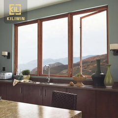 Kiliwin Make in China hot sale low price luxury aluminium wood casement windows for nigeria on China WDMA