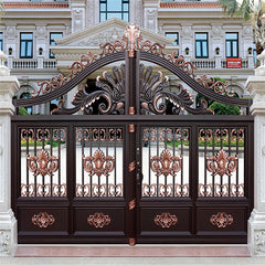 Korea Russia Turkey Thailand Luxury Villa Modern Aluminum Sliding Main Gate Front Doors Pivot Aluminium Garden Entry Door Price on China WDMA