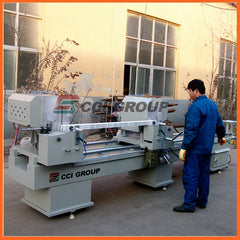 LJZ2-450X3700 aluminum window door double mitre saw fabrication machine on China WDMA