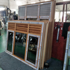 LZ aluminum casement window with top ventilating louvers aluminum window louver vent window aluminum on China WDMA