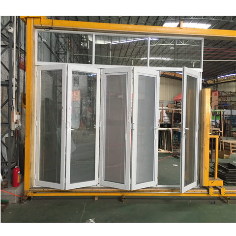 Laminated glass waterproof folding door philippines with blinds inside on China WDMA