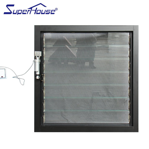 Large size Electric aluminium frame adjustable glass louvre window for sale on China WDMA