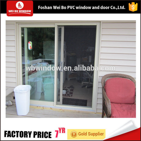 Large size french style sliding door upvc profile tempered glass door on China WDMA