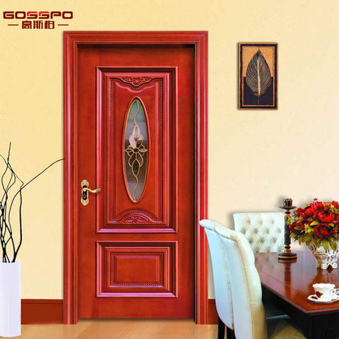 Latest Design Solid Wooden Glass Door Interior French Door on China WDMA