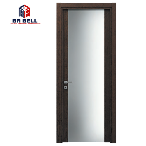 Latest Glass Wood Door Design Whole Glass Black Walnut Door Frame Custom Made Internal Swing Interior Doors on China WDMA