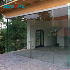 Latest design large interior glass sliding synchronous door with soft closing system on China WDMA