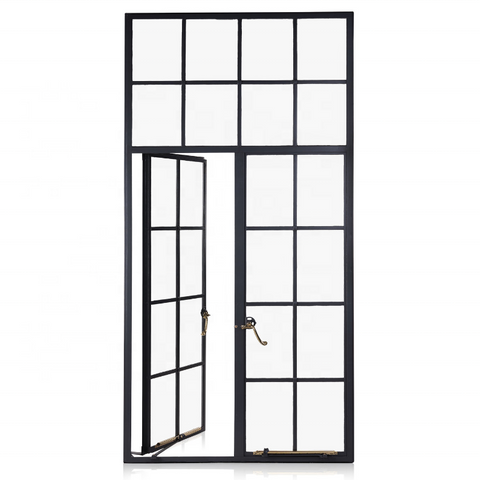 Latest french style slim frame steel casement window design on China WDMA