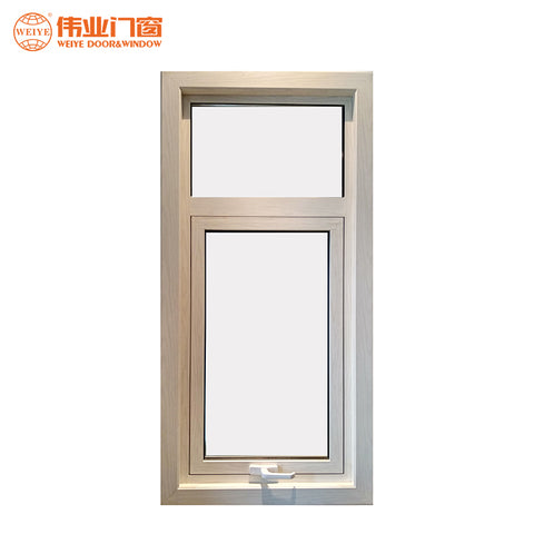 Latest house single glass top hung opening large glazing casement vertical opening windows on China WDMA