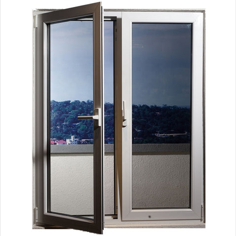 Latest house windows door designs double glazed aluminum glass tilt and turn windows on China WDMA