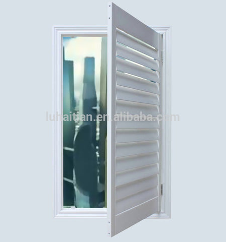 Latest window design for house UPVC window blind /glass shutter window with fixed and casement on China WDMA