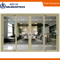 Light transmittance cheap house french door exterior dual glass corner aluminium lift & sliding door for cafe house on China WDMA