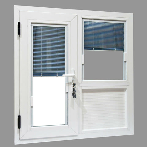 Lingyin construction high quality UPVC casement windows with blinds between the glass on China WDMA