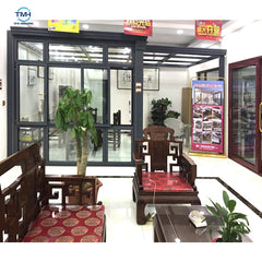 Living room Residential Aluminum Double/ Single fireproof standard Glass Sliding Doors size on China WDMA