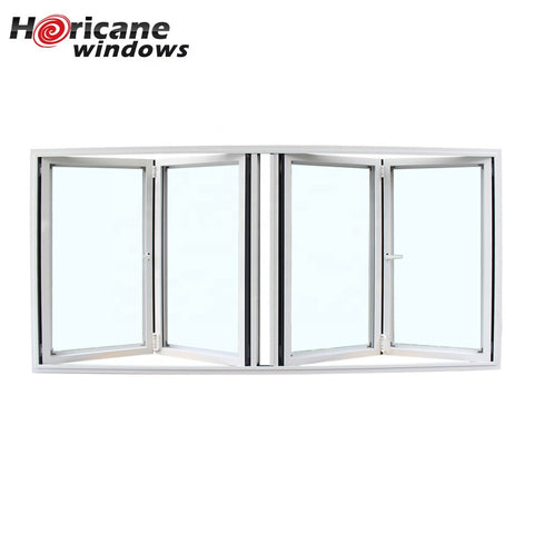 Long 4 panel aluminum bifold folding windows on China WDMA