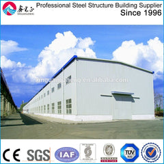 Low Cost and Fast Assembling Gable frame prefabricated industrial steel structure warehouse / workshop on China WDMA