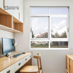 Low MOQ residential project W80 cheap double pane aluminum metal sliding window with tinted glass on China WDMA