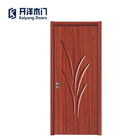 Low cost and high quality mdf pvc door flat door wooden bedroom main designs doors on China WDMA