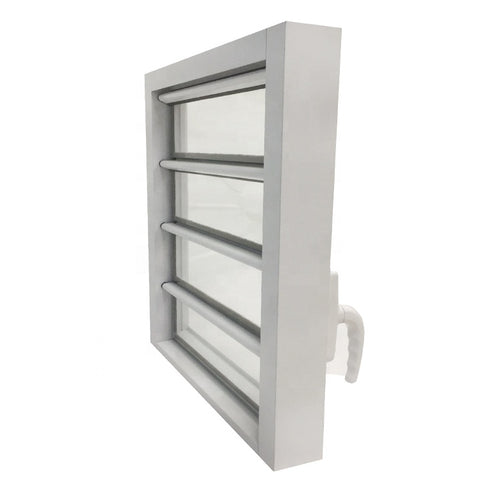 Low price durable aluminium frame glass louver windows on China WDMA