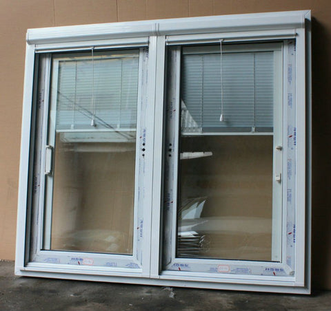 Luxury UPVC Sliding Windows with Built-in Blinds Foshan Factory on China WDMA