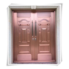 Luxury double entry doors used exterior french doors for sale Imitated copper security door on China WDMA