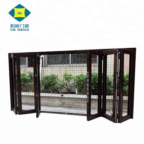 Made In China Factory Price Outdoor And Interior Glass Aluminium Sliding Folding Doors on China WDMA
