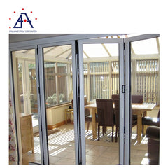 Made-in-China Anodized Clear Glass Aluminium Folding Doors Cost Per Square Meter on China WDMA