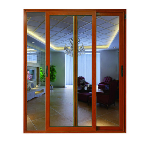 Made in China guaranteed quality sliding doors bedroom partition door tempered aluminum glass door on China WDMA