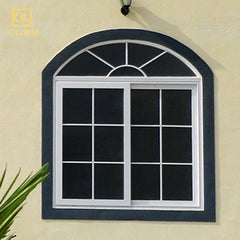 Made in China powder white sliding window frames best price grill design double glazed aluminium arch windows for pakistan on China WDMA