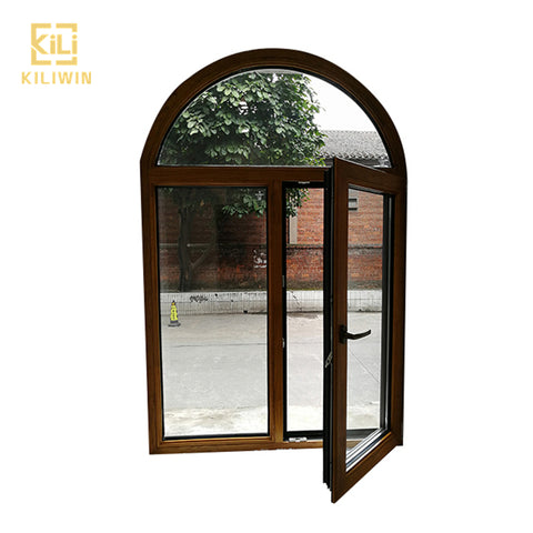 Made in foshan french aluminium arch casement window tinted double glaze latest wooden window frames designs for kerala on China WDMA