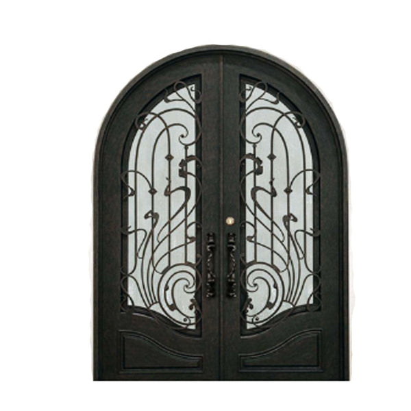 Manufacture wronght iron entry double /single door on China WDMA