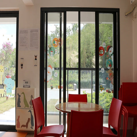 Mesh Screen One Way Vision Window Screen Folding Screen Door For Baby Room on China WDMA