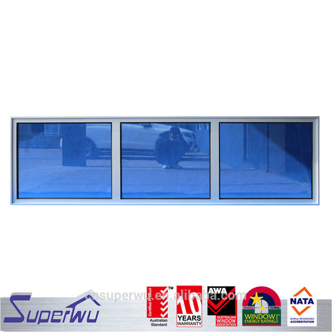 Miami Dade Code standards hurricane impact toughened glass fixed panel window on China WDMA